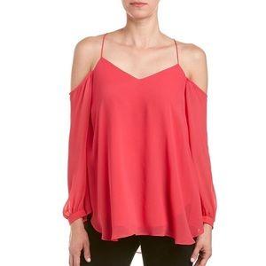Gorgeous off the shoulder Haute Hippie blouse
